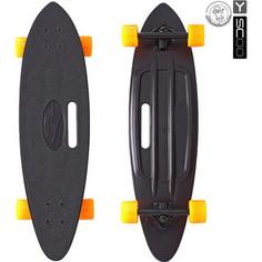 RT 409-B Скейтборд Longboard Shark с ручкой 31 пластик 79х22 с сумкой BLACK/orange