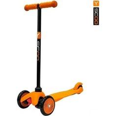 Y-Scoo Самокат mini A-5 Simple цв. orange с цветными колесами