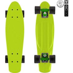 Y-Scoo 401-L Скейтборд Fishskateboard 22 винил 56,6х15 с сумкой LIME/black