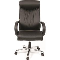 Офисное кресло Chairman 420 Россия кожа черная