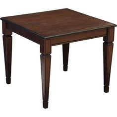 Стол журнальный Мебелик Васко В 82 темно-коричневый/патина