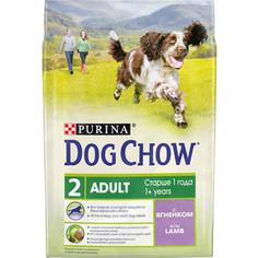 Сухой корм DOG CHOW Adult with Lamb с ягненком для взрослых собак 2,5кг (12308783)