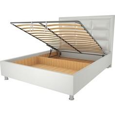 Кровать OrthoSleep Виктория механизм и ящик белый 80х200