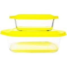 Набор стеклянных форм для запекания Frybest Glass ovenware (2p set Yellow)
