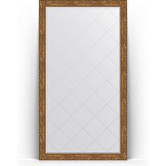 Зеркало пристенное напольное с гравировкой Evoform Exclusive-G Floor 110x200 см, в багетной раме - виньетка бронзовая 85 мм (BY 6352)