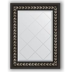 Зеркало с гравировкой Evoform Exclusive-G 55x72 см, в багетной раме - черный ардеко 81 мм (BY 4010)