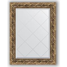 Зеркало с гравировкой Evoform Exclusive-G 66x88 см, в багетной раме - фреска 84 мм (BY 4098)