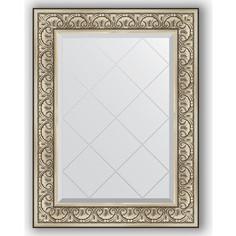 Зеркало с гравировкой Evoform Exclusive-G 70x92 см, в багетной раме - барокко серебро 106 мм (BY 4123)