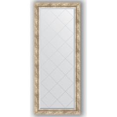 Зеркало с гравировкой Evoform Exclusive-G 63x153 см, в багетной раме - прованс с плетением 70 мм (BY 4134)