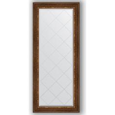 Зеркало с гравировкой Evoform Exclusive-G 66x156 см, в багетной раме - римская бронза 88 мм (BY 4148)