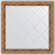 Зеркало с гравировкой Evoform Exclusive-G 105x105 см, в багетной раме - виньетка античная бронза 85 мм (BY 4445)
