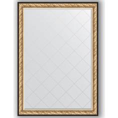 Зеркало с гравировкой Evoform Exclusive-G 135x190 см, в багетной раме - барокко золото 106 мм (BY 4509)