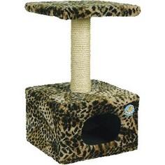 Когтеточка Зооник Дом малый цветной мех для кошек 340 х 340 х 600см (2209)