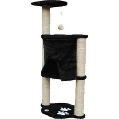 Когтеточка Зооник Комплекс с шатром и помпоном однотонный мех с аппликацией для кошек 620 х 420 х 1240см (22046)