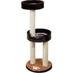 Когтеточка Зооник Комплекс с двумя лежанками однотонный мех с аппликацией для кошек 460 х 500 х 1150см (22052)