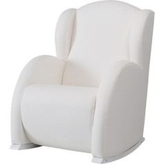 Кресло-качалка Micuna мини Wing/Flor white/white искусственная кожа