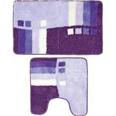 Набор ковриков для ванной Milardo Meteora skies 50x80 и 50x50 см (490PA58M13)