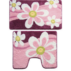 Набор ковриков для ванной Milardo Merry Camomile 50x80 и 50x50 см (360PA68M13)