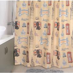 Штора для ванной Milardo British signs 180x200 см (870P180M11)