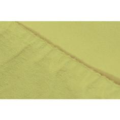 Простыня Ecotex махровая на резинке 160х200х20 см (ПРМ16 салатовый)