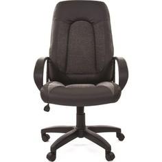 Офисное кресло Chairman 429 экопремиум черный+ткань 20-23 серая