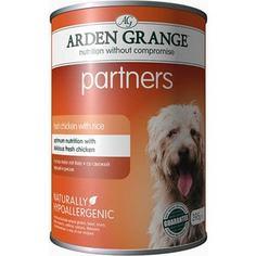 Консервы ARDEN GRANGE Adult Dog Partners Hypoallergenic Fresh Chicken with Rice гипоалергенный со свежей курицей и рисом для собак 395г (AG819015)