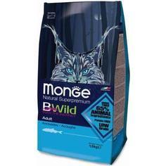 Сухой корм Monge BWild Adult Cat Low Grain Anchovies низкозерновой с анчоусами для взрослых кошек 1,5кг