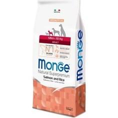 Сухой корм Monge Speciality Line Adult Dog Mini Salmon and Rice с лососем и рисом для взрослых собак мелких пород 7,5кг