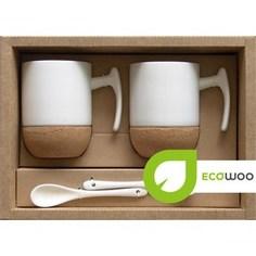 Набор 2 кружки +2 подставки+2 ложки Ecowoo (2012241U)