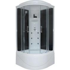 Душевая кабина Royal Bath 90х90х217 стекло черное/прозрачное (RB90BK3-BT)