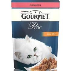 Паучи Gourmet Perle Mini Fillets с лососем для кошек 85г (12222480)