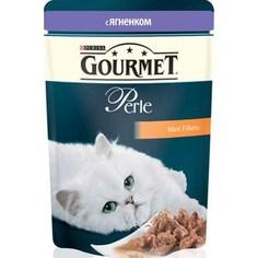 Паучи Gourmet Perle Mini Fillets с ягненком для кошек 85г (12215290)