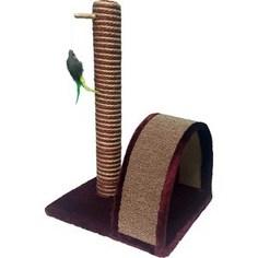 Когтеточка PerseiLine Столбик + дуга с игрушкой для кошек 35х30х54 см (00288/КД-12)