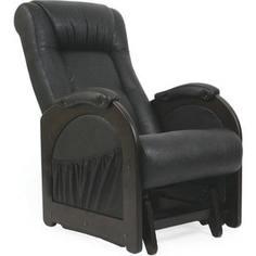 Кресло-качалка глайдер Мебель Импэкс Комфорт Модель 48 венге без лозы, обивка Dundi 109