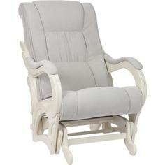 Кресло-качалка Мебель Импэкс Комфорт Модель 78 дуб шампань, обивка Verona Light Grey
