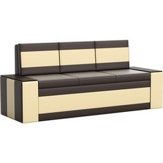 Кухонный диван АртМебель Лина эко-кожа (коричнево\бежевый)