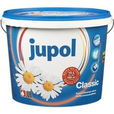 Краска в/д JUB JUPOL CLASSIC для стен и потолков супербелая матов. 10л.