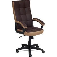Офисное кресло TetChair TRENDY кож/зам/ткань, коричневый/бронза, 36-36/21