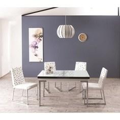 Комплект кухонный AlwaysSTAR Стол M21 white, 4 стула S21 white
