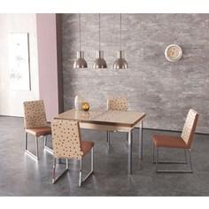 Комплект кухонный AlwaysSTAR Стол M21 cappuccino, 4 стула S21 cappuccino