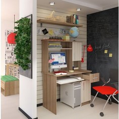 Компьютерный стол Атлант Интел 15 ясень шимо темный, ясень шимо светлый