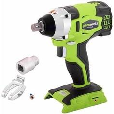 Гайковерт ударный аккумуляторный GreenWorks G24IW (3801507)