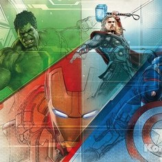 Фотообои MARVEL Avengers Graphic Art (3,68х2,54 м)