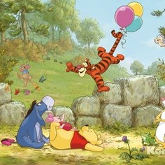 Фотообои Disney Winnie Pooh Ballooning (3,68х2,54 м)