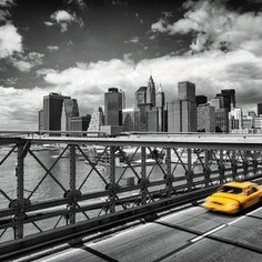 Фотообои Komar Taxi to Brooklyn (2,54х1,84 м) (4-929)