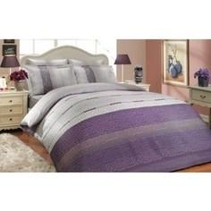 Комплект постельного белья Hobby home collection Евро, сатин Denim лиловое