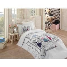 Детское постельное белье Hobby home collection 1,5 сп с покрывалом жаккард Vienna