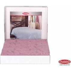 Покрывало Hobby home collection 1,5 сп, махровое, Sultan Розовый
