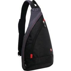 Рюкзак Wenger MONO SLING с одним плечевым ремнем черный/серый (1092230)
