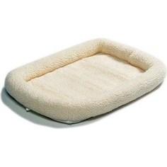 Лежанка Midwest Quiet Time Pet Bed - Fleece 22 флисовая 53х30 см белая для кошек и собак